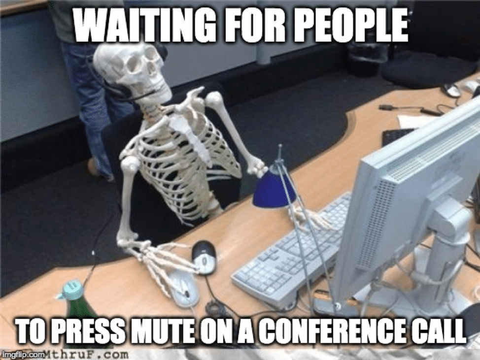 conference call humor muting